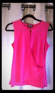 Ellen Tracy Hot Pink Blouse S